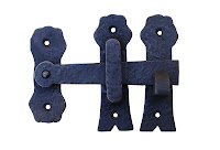 16486 OB Thumb Latch Black 125mm