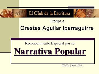 Premio Otorgado por El Club de la Escritura
