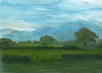 ACEO spring landscape painting