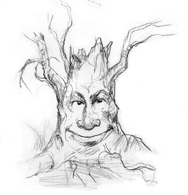 tree face sketch