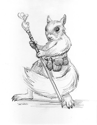 squirrel mage sketch