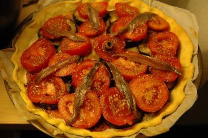 fussoir tarte tomate aubergine anchois. Black Bedroom Furniture Sets. Home Design Ideas