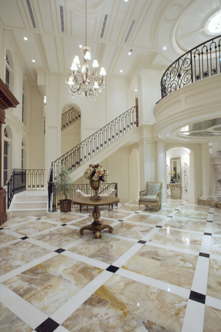 Beautiful straight staircase in florida luxury stairs for Luxury staircase