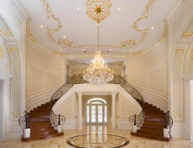 beautiful double curved staircases from homes of the rich ForDouble Curved Staircase