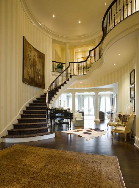 Beautiful Curved Staircase In Atlanta Ga Luxury Stairs