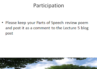 english communications lecture parts of speech and  lecture 5 parts of speech and expository essay workshop