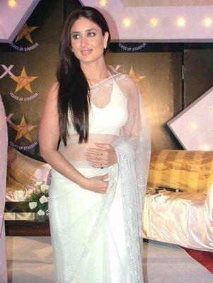 Kareen Kapoor in wonderful white saree