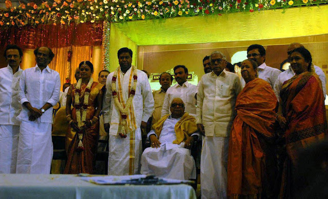 Rajini @ former minister R M Veerappan's Son  wedding reception 6