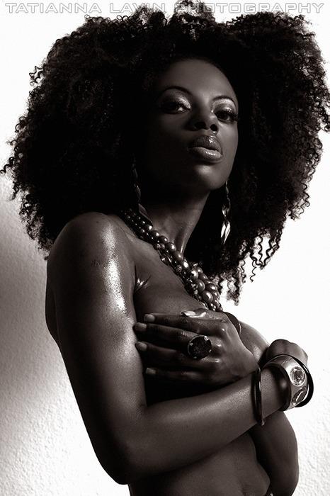 Black Woman Rockin Short Natural Hair