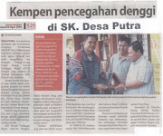 YB. Datuk Marsum Paing di SK. Desa Putra.