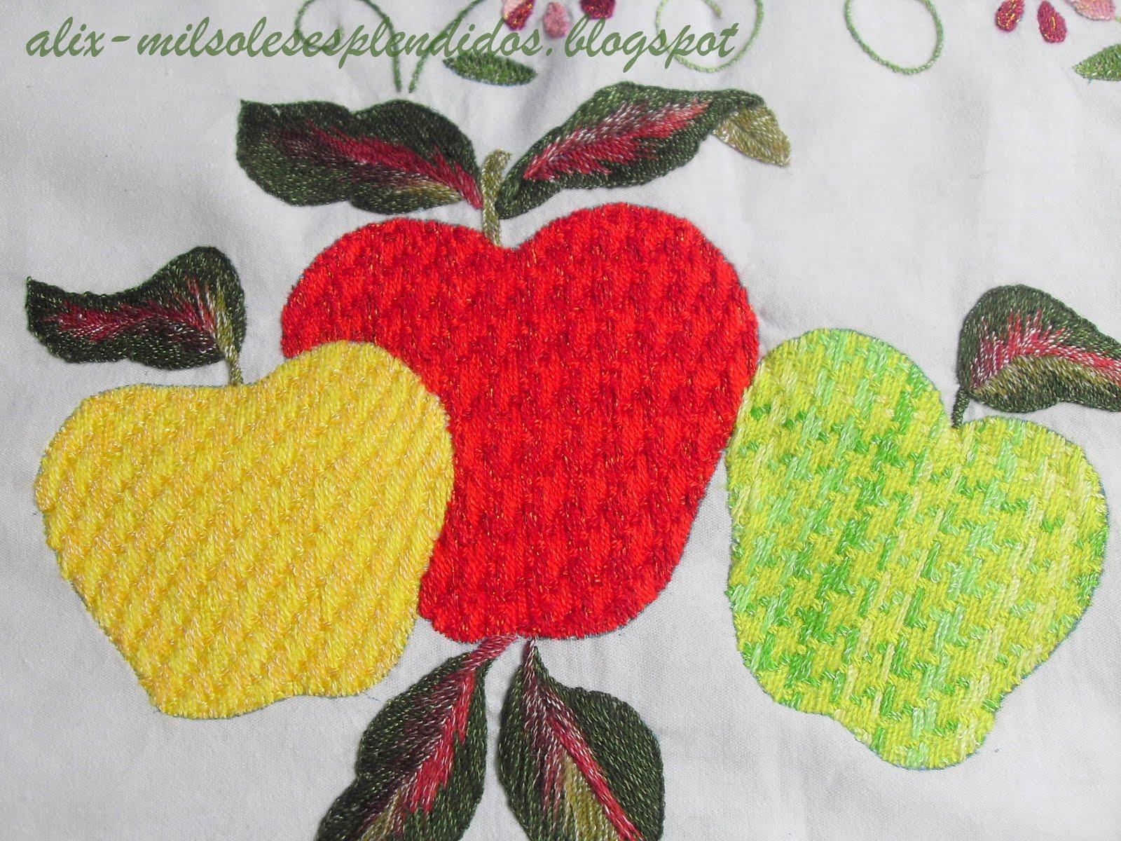 la puntada de las manzanas rehilete de las hojas matiz