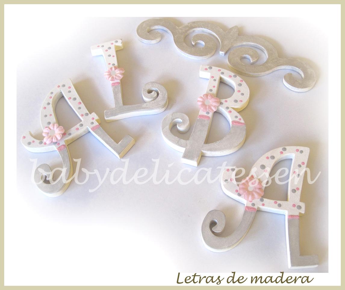 Baby delicatessen letras de madera - Letras decorativas para habitaciones infantiles ...