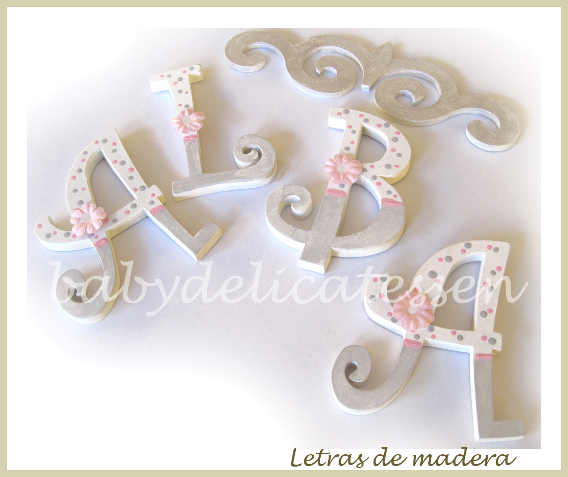 Baby delicatessen letras de madera - Letras infantiles para puertas ...