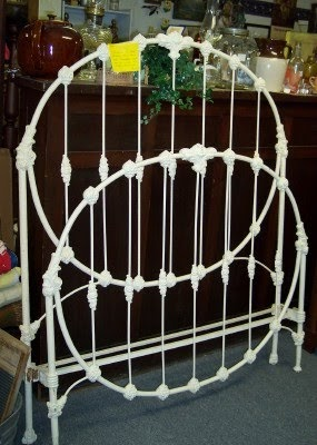 Kalona Antique Company Fancy Old Iron Bed