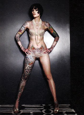 exspresi girl style full body tattoo