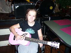Marissa's pink guitar