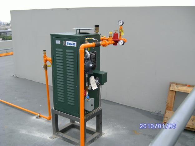 Instalación de  Vaporizador Algas