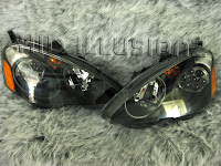 HID ILLUSIONZ Acura RSX TypeS Q HID Projector Retrofit Headlights - 2002 acura rsx type s headlights