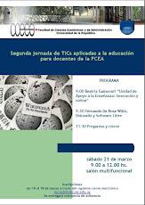 Afiche II Jornada de TICs aplicadas a la educación para docentes de la FCEA