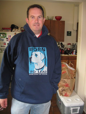 John modeling our Born To Lead Hoody Sweatshirt