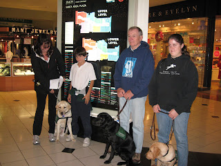 The pups and raisers at the Mall Map
