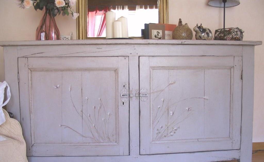 Meubles et patines vieux meuble retrouv dans une cave peint patin et d cor de gramin es - Meubles peints patines ...
