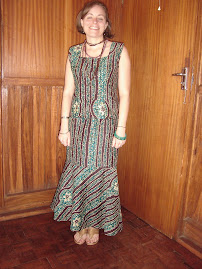 in beautiful African attire...