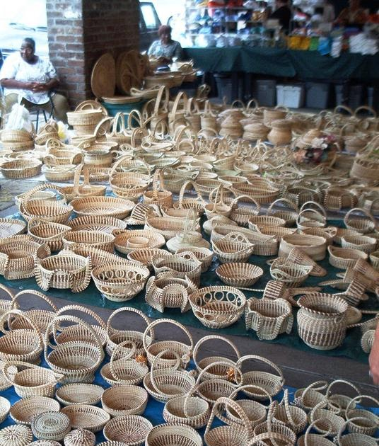 Handmade Baskets In South Carolina : Rebecca gilliard s handmade sweetgrass baskets charleston