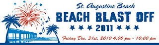 NEW YEAR'S EVE IN ST AUGUSTINE! 3 BeachBlastOff2011 banner St. Francis Inn St. Augustine Bed and Breakfast