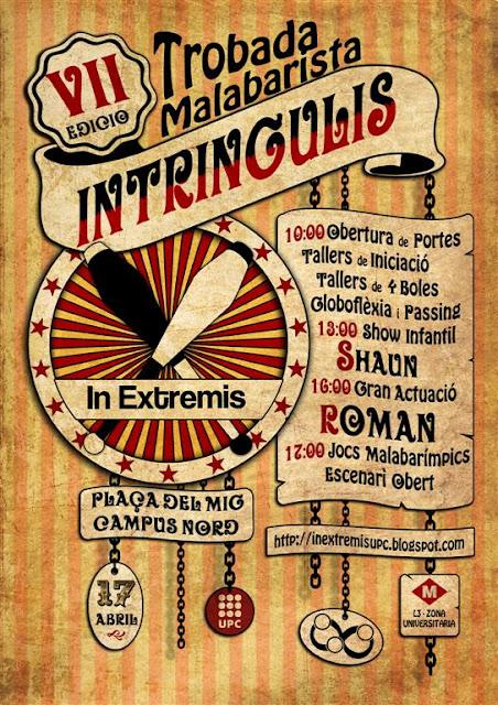 Cartel del VII encuentro malabarista Intringulis
