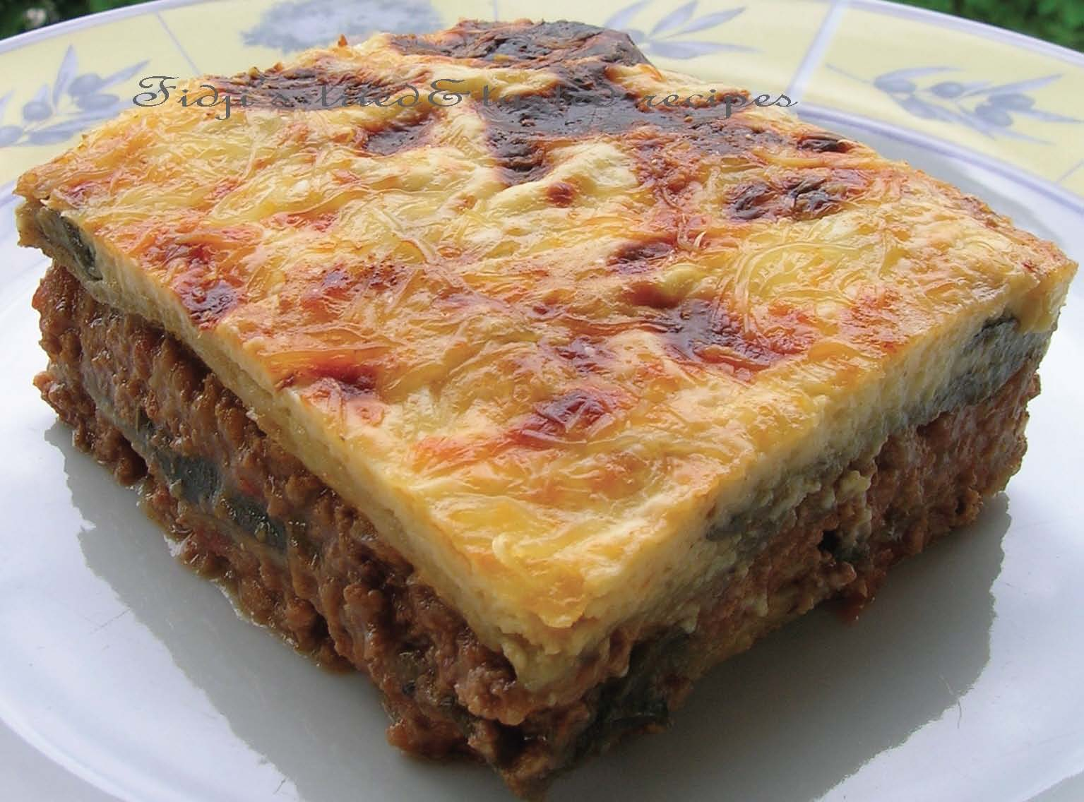 Fidji's Tried & Tasted Recipes: Moussaka
