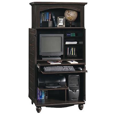 Glass Wood Computer Desk Friendly Home Furniture Design