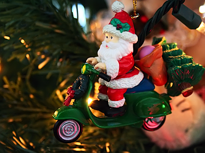 scooter wallpaper. Scooter Santa Claus wallpaper
