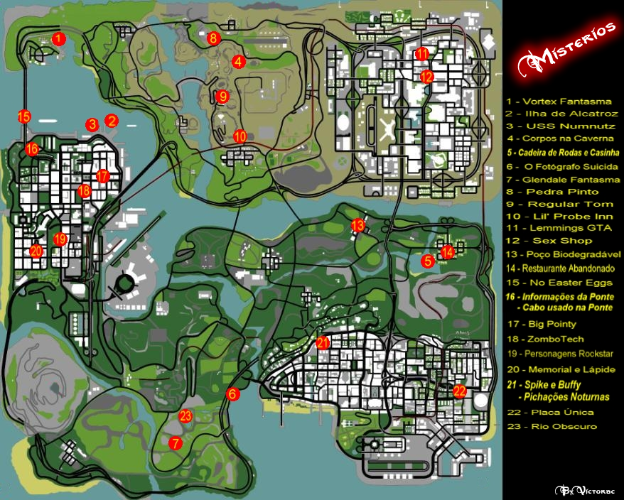 Mapa de Misterios do GTA San Andreas
