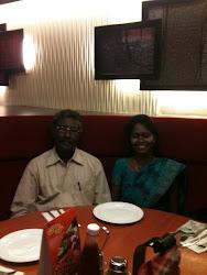 Jacintha & her Dad Chinnasamy