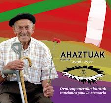 Ahaztuak CD I (15 euro)