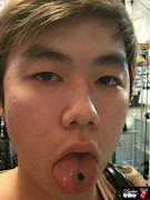 Tongue piercing. Posted by Vie G. Labels: Tongue piercing