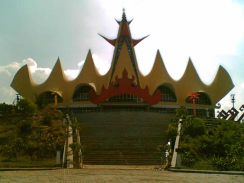Menara Siger di Lampung Selatan