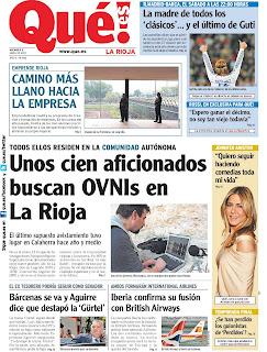 Segunda página del diario Que! de La Rioja del 9 de abril de 2010