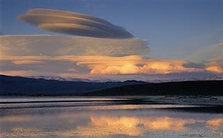 Fotografía de una nube lenticular