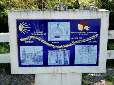 Cartel del Camino de Santiago en La Rioja