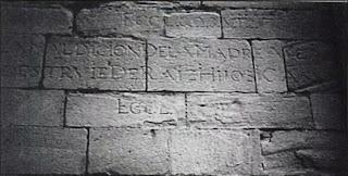 Inscripción en la fachada sur de la Iglesia de Santiago (Calahorra)