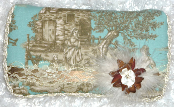 BLue & BRowN & cReaM Too CuTe ToiLe & MaRaBou GiRL's WiPe CaSe