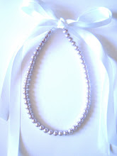 pReCiouS PuRpLe 8mm PeaRL & RiBBoN NecKLaCe