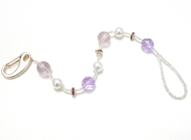 PReCiouS PuRPLe cRysTaL & HeaVeNLy wHiTe PeaRL BiNky cLiP