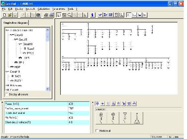 Teknik elektro power its gambar contoh tampilan keseluruhan layar ecodial 33 gambar di atas adalah tempat dimana dirancang diagram garis tunggal instalasi ccuart Images