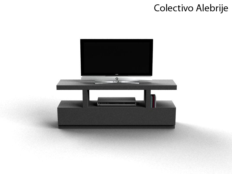 Colectivo alebrije mueble para tv y dvd minimalista for Mueble tv minimalista