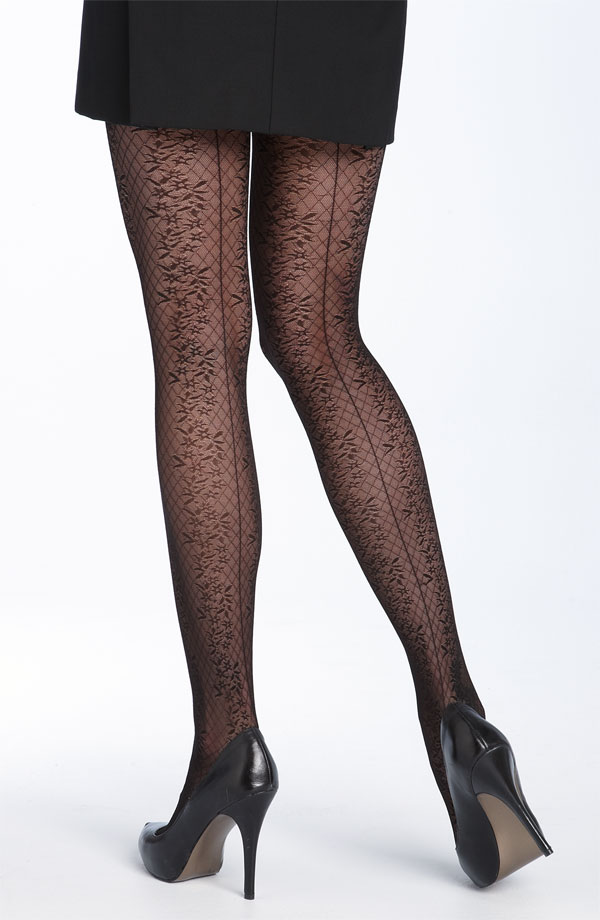 patterned tights for women. Oroblu Sheer Ruched Leggings