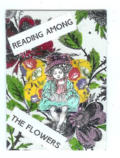 Reading Among the Flowers ATC