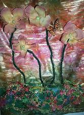 Flower Detail of Dress Quilt